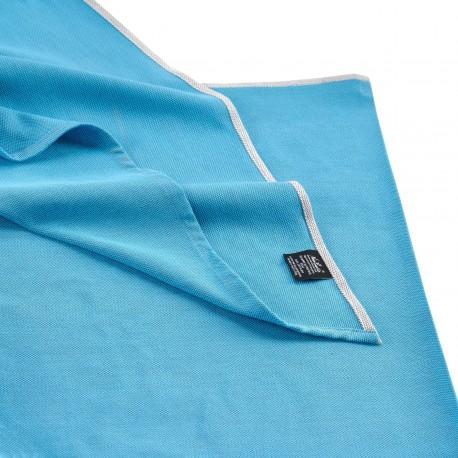 Echarpe Bleu Denim, coton Bio