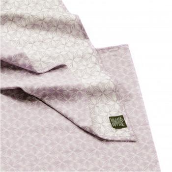 Echarpe de portage, Mandala Parme, coton bio