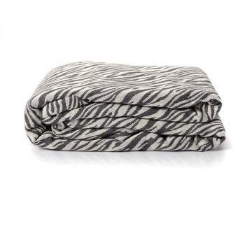 Echarpe de portage, Zèbre Noir, 4,60m, coton bio