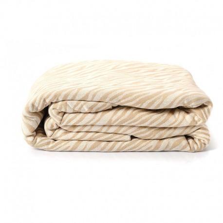 Echarpe de portage, Zèbre Beige, 4,60m, coton bio