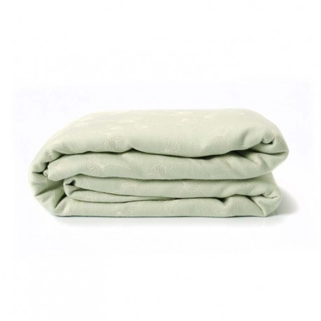 Echarpe de portage, Ginkgo Vert, 4,60m, coton bio