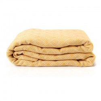 Echarpe de portage, Nomade Ocre, 4,60m, coton bio