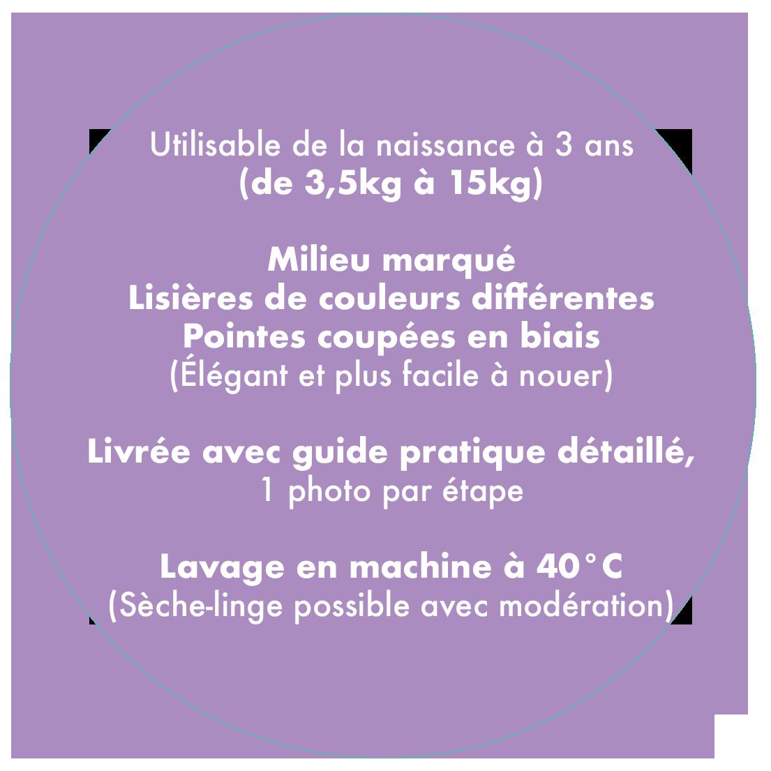 Caractéristiques écharpe de portage Néobulle