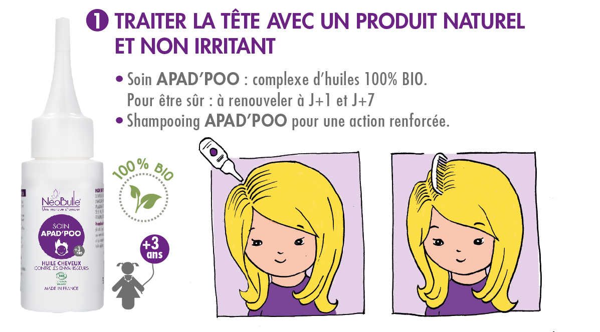 Traiter la tête avec un produit naturel et non irritant